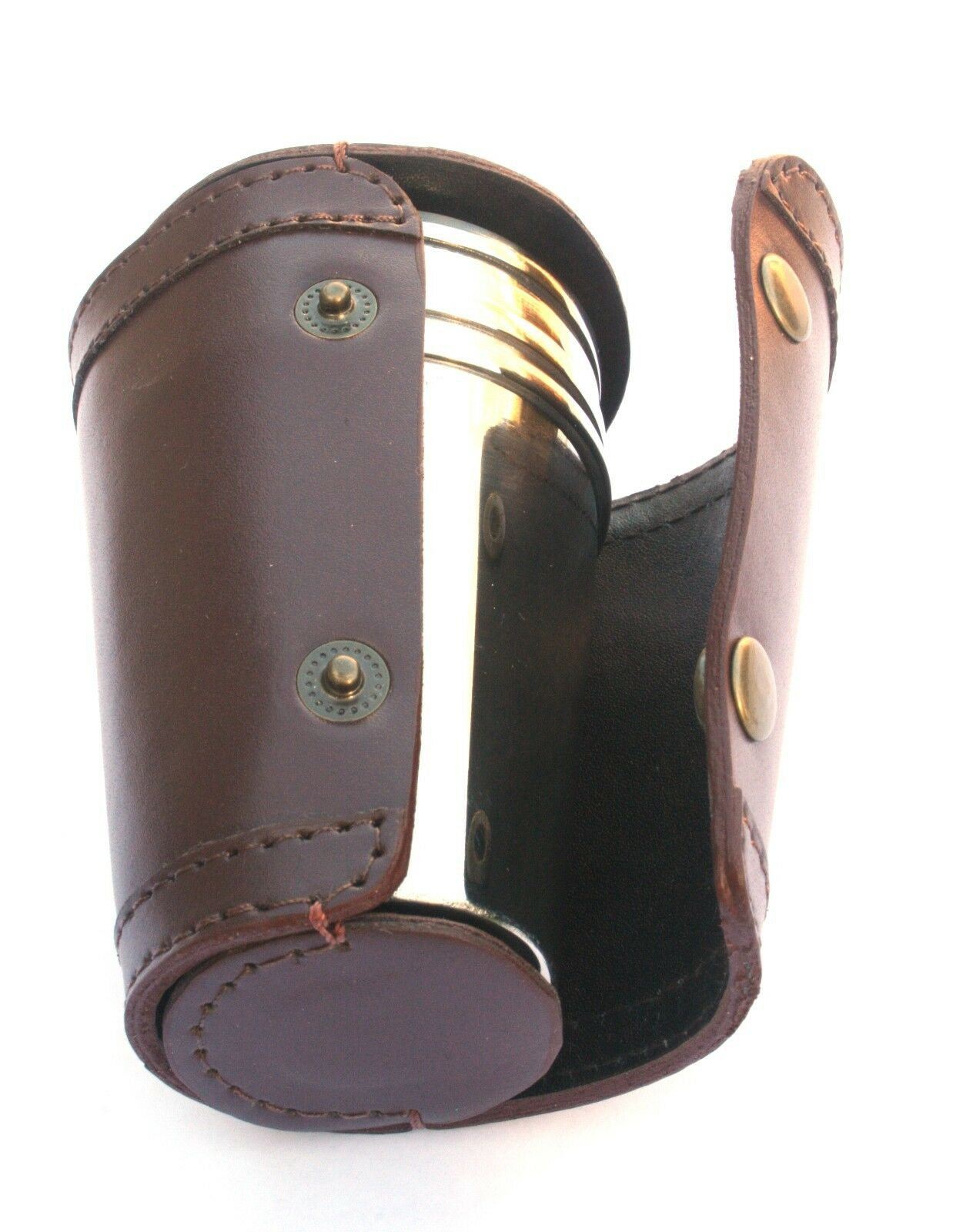 Claddagh Ring 4 Shot Stacking Stirrup Shot 4 Cups in Leather Case Gift d21d68