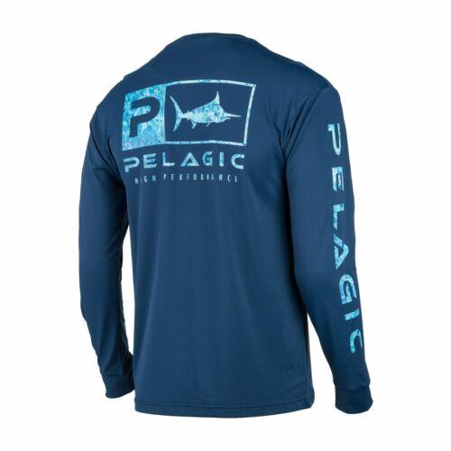 Pelagic Aquatek Icon Navy Performance Long Sleeve Fishing 1015201000