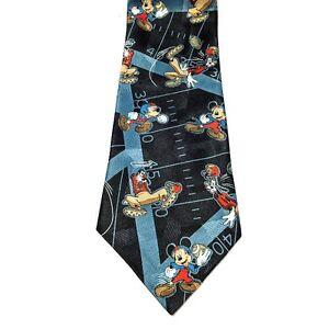 Disney-Mickey-Goofy-Football-Dress-Necktie-Tie-Mickey-Unlimited-EUC-LE
