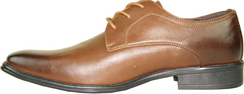 Bravo Milano-4 braun Dress Oxford Classic Plain Square Toe Leather Leather Leather Lining ced4b2