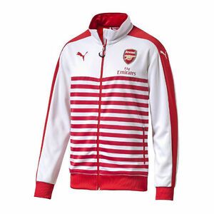 Details about PUMA ARSENAL T7 ANTHEM JACKET 2014/15 Red/White