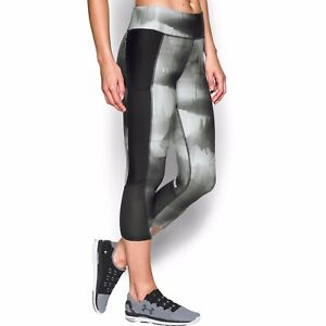 775c6c4978889e NWT Under Armour Women's UA FLY-BY Printed Running Capri Pants ...