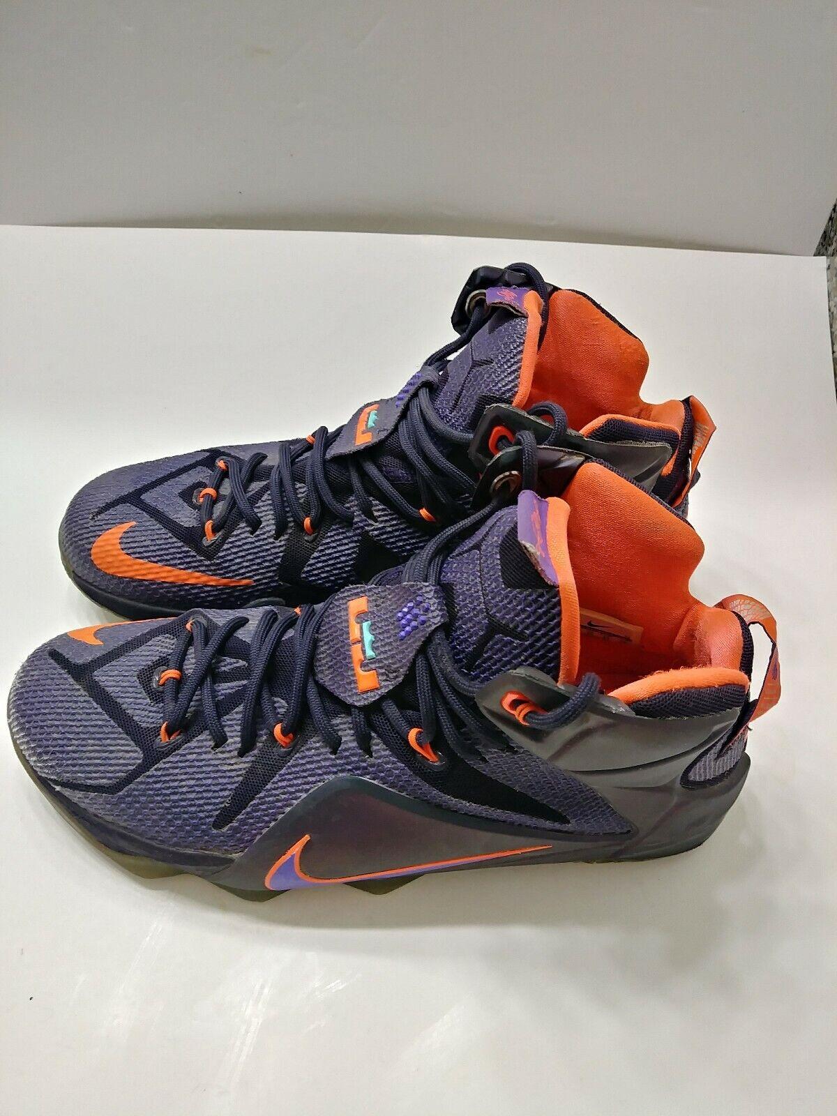 buy popular a4a29 06a1c Nike Lebron James XII Purple Instinct Men's Size 11 Basketball Shoes  684593-583