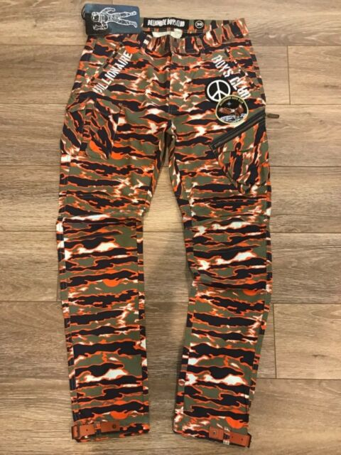 BBC Billionaire Boys Club BB Treaty Camo Honey Dew Pants Msrp $185 F