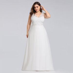 Ever-Pretty-Plus-Size-Lace-Wedding-Dress-Long-V-Neck-Gowns-Evening-Dresses-07686