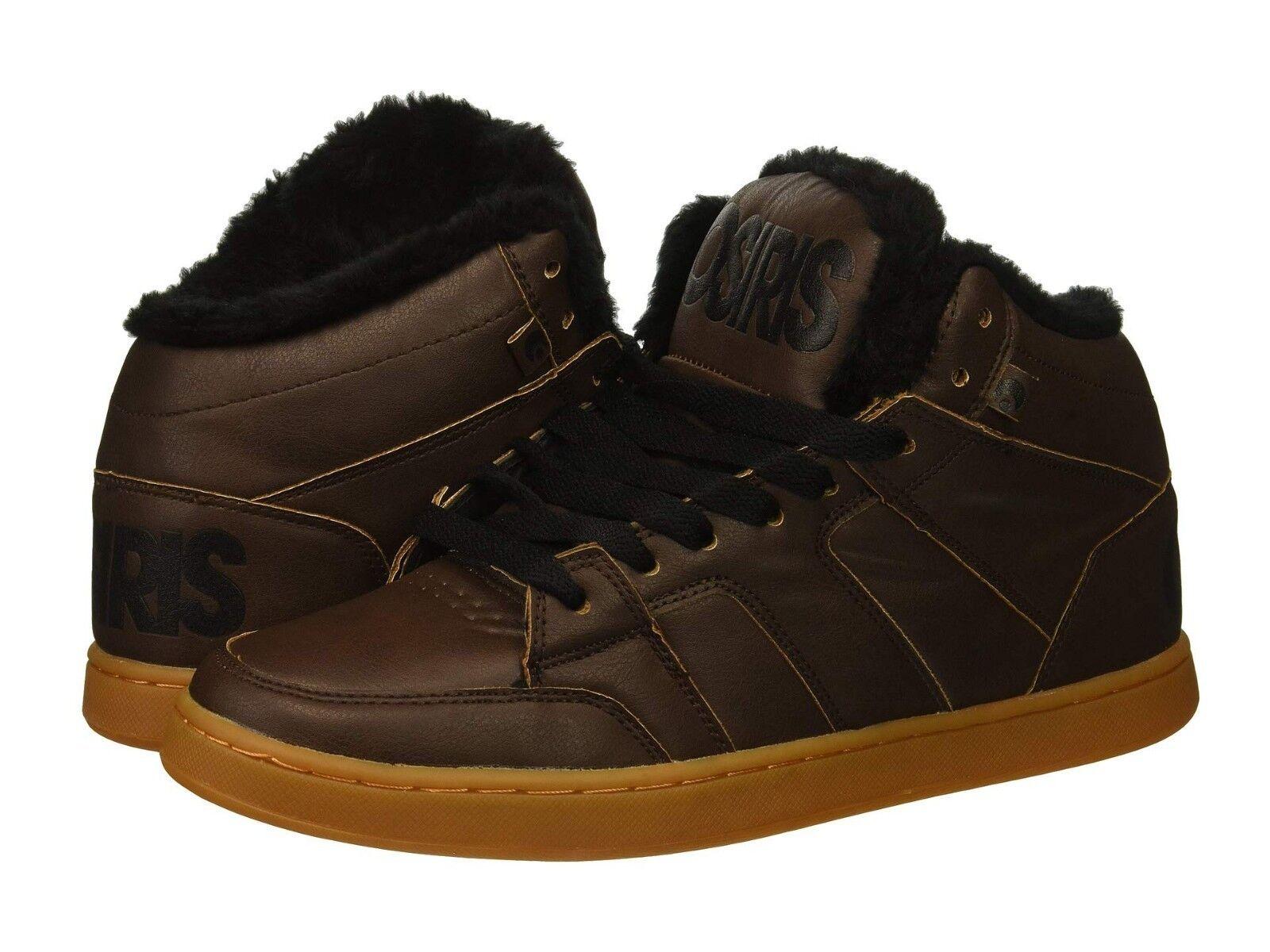 hommes OSIRIS CONVOY MID SHR SKATEBOARDING Chaussures NIB BROWN noir