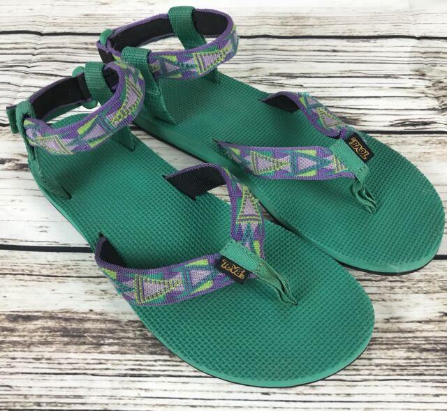 0bd565acc5e Womens TEVA 1003986 Green Thong Ankle Cuff Sport Sandals Shoes SIZE 11 EU 42