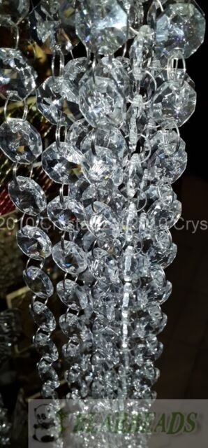 Top Quality Crystal Garland Clear Glass Beads Chain For Wedding Tree Decoration