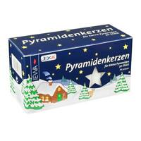 50 German Medium White Christmas Pyramid Candles 2 5/8in Tall X 9/16in Dia