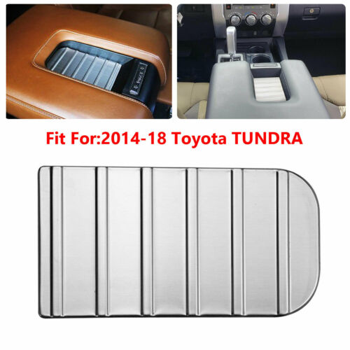 For Toyota Tundra 2014-2018 Stainless Steel Interior Armrest Cover Bowl Trims