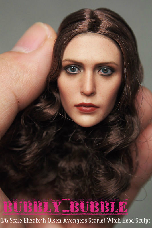 1 6 Elizabeth Olsen Olsen Olsen Scarlet Witch Head Sculpt For Hot Toys Phicen SHIP FROM USA 7105d1