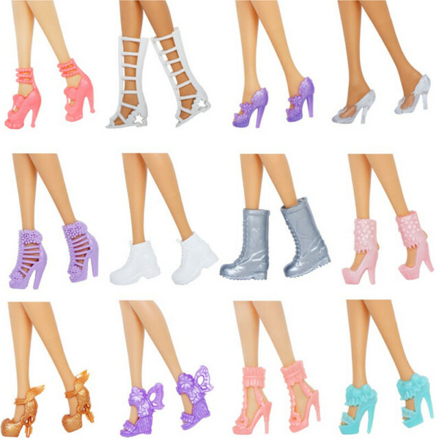 SHOES BARBIE  DOLL ROMANTIC WEDDING WHITE MARY JANE HIGH HEEL SHOES ACCESSORY