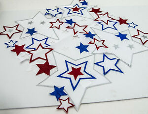"""Fourth of July Stars Table Topper 20"""" x 20"""" by Wimpole St. Creations 