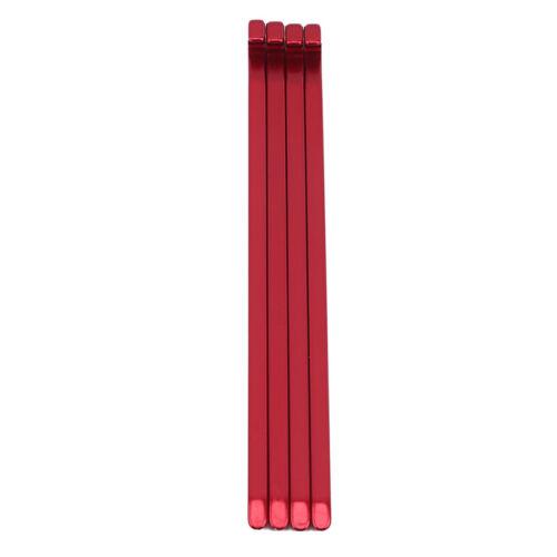 Aluminum Alloy Ground Nails Tent Nails Durable 4Pcs//Bag Camping Red Light Nails