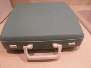Vintage Beautiful light   blue  Portable Typewriter Smith Corona CORSAIR DELUXE