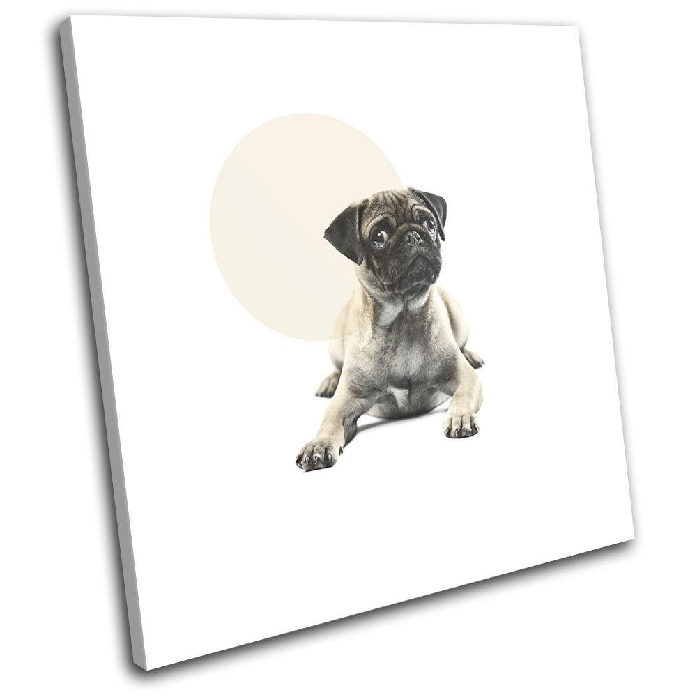 Pug Dog Modern Abstract Animals SINGLE TELA parete arte foto stampa