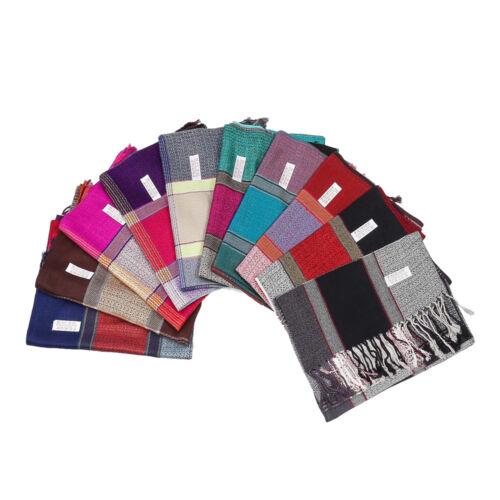 Ladies Bright Multi-Colours Tartan Print Scarf Showl Pashmina