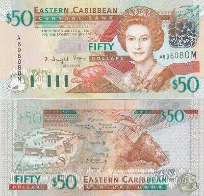 2003 Vincent Eastern East Caribbean $50 St UNC P-45v