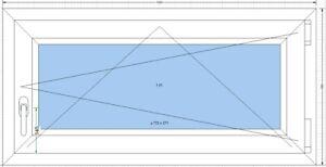 Finestra-in-PVC-Anta-amp-Ribalta-a-2-vetri-con-gas-argon-e-Larghezza-1000mm