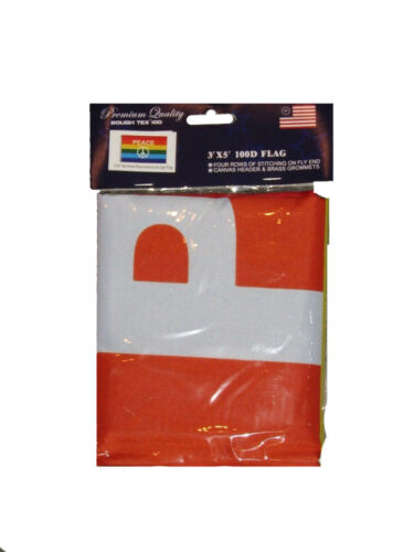 3x5 Rainbow Peace Symbol Rough Tex Knitted 100D Flag 3/'x5/' Banner Grommets