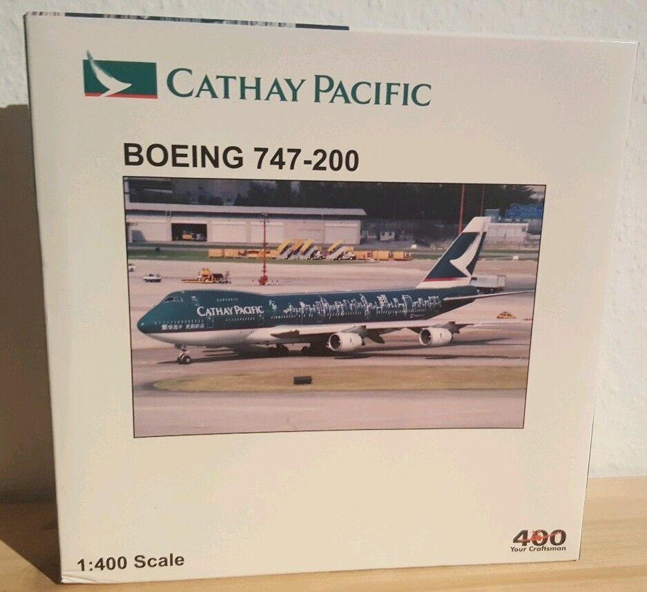 Jc-Wings blu Box 1 400 cathay boeing 747-200 spirit of hong kong with Antennas