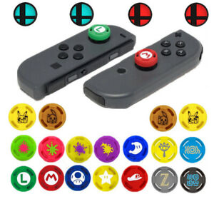 Details about 4-8 PC For Nintendo Switch JoyCon Joystick Analog Stick Thumb  Grips Silicone Cap