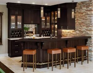 Details about Shaker Espresso Kitchen Cabinets-Sample door-RTA-All wood, in  stock