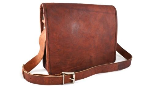 Men/'s Genuine Leather Messenger Shoulder Bag All Laptop Case Briefcase Attache
