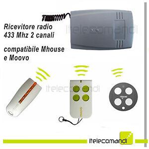 Amical Ricevente Radio Ricevitore 433 Mhz 2 Canali Compatibile Con Mhouse E Moovo MatéRiaux De Qualité SupéRieure