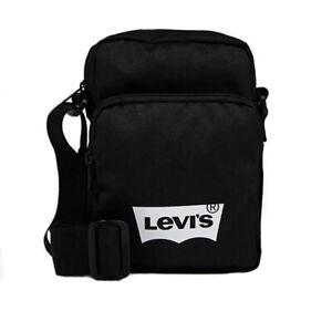 Details About Levis Branded Logo Organizer Cross Body Shoulder Bag Black
