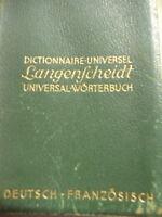Langenscheidt Universal Wörterbuch Deutsch - Französisch Antik selten 1930