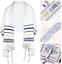 Tallit-Prayer-Shawl-Israel-Bag-Jewish-Made-Blue-Messianic-New-Gold-72-Jerusalem thumbnail 1