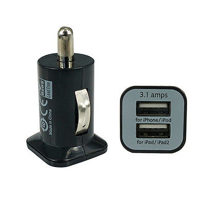 Mini 2 Port Dual USB DC Car Charger Adapter Accessory For iPhone 5 4S iPad iPod