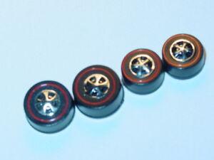Hot-Wheels-Redline-HK-WHEELS-2-Large-2-Medium-Black-Bearing-Set-of-4-NEW