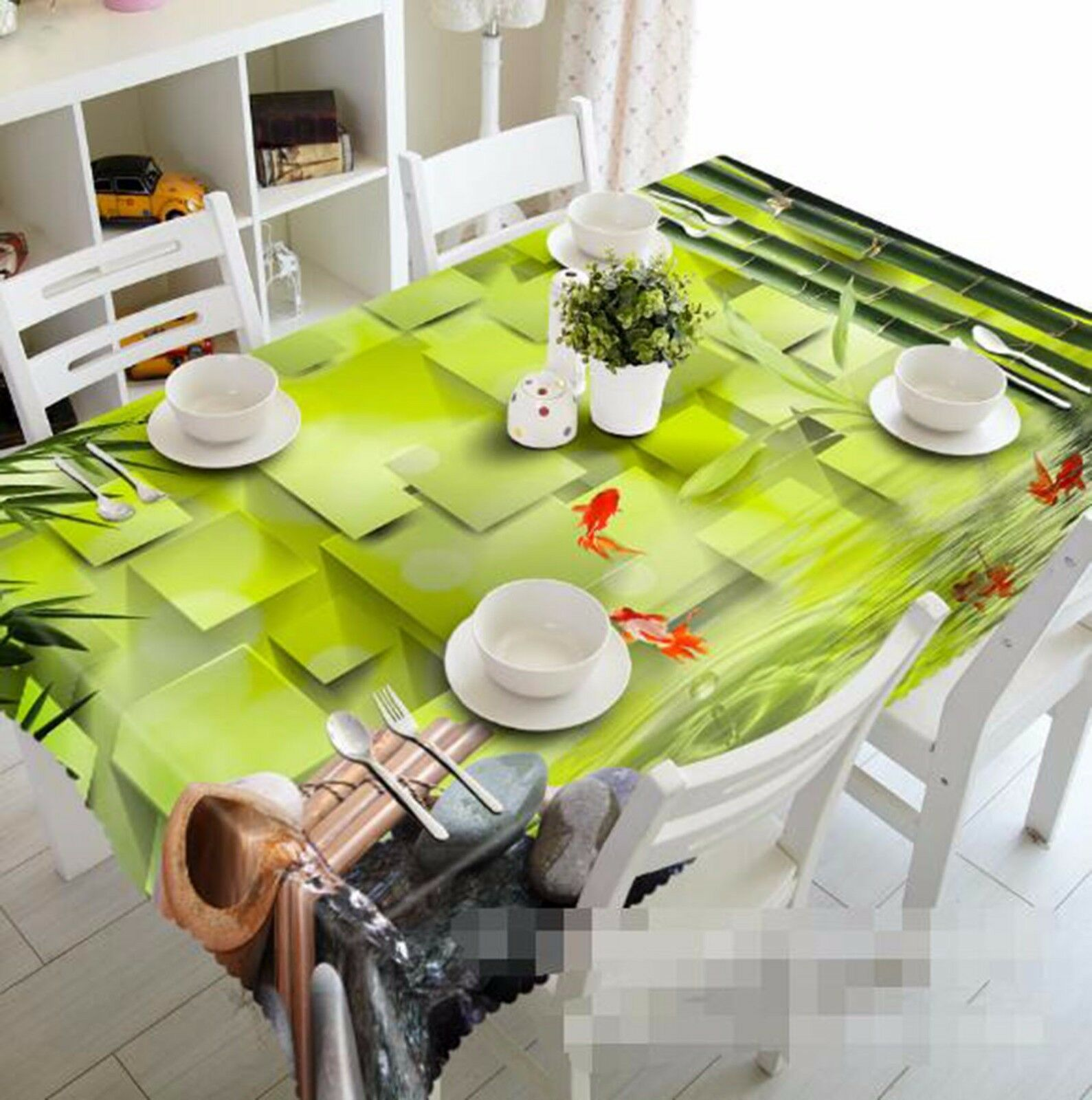 3D Bamboo 413 Tablecloth Table Table Table Cover Cloth Birthday Party AJ WALLPAPER UK Lemon a7a29b