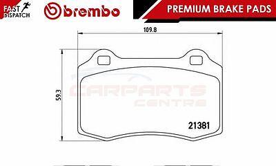 Pastillas de freno Brembo Genuino Original Premium Pad Set Eje Delantero P68008