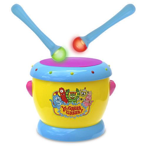 Yo Gabba Gabba Music Light Up Drums Drum Set Musical Instrument Toy