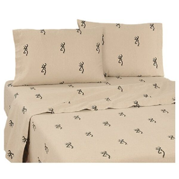 brauning Country 3 Pc TWIN Sheet Set - Rustic Hunting Cabin (Sheets, Pillowcase)