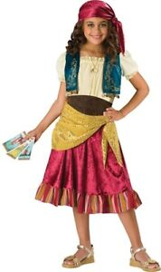 Gypsy Girl Child Costume Girls Kids Peasant Magician Skirt Halloween Theme Party