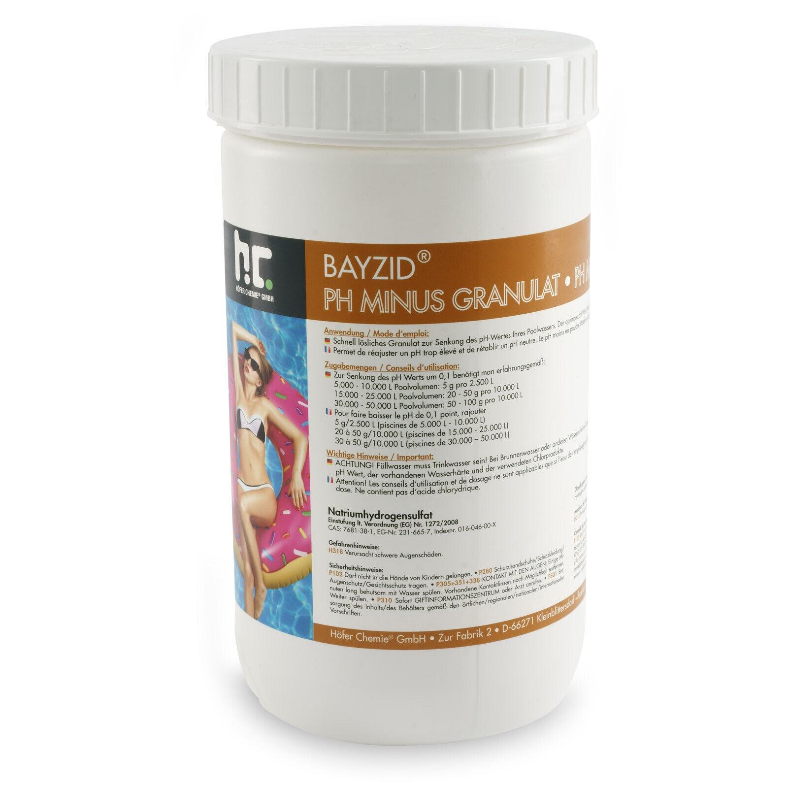 Höfer Chemie 12x1,5 kg pH Minus Granulat zur Pool- &Schwimmbadpflege ,pH Senker