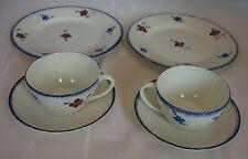 MARY-LOU Digoin Sarreguemines / 2 petits déjeuner + 2 assiettes / Tasses Déco