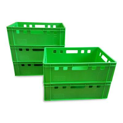 5 X Eurofleischkiste E2 Lagerkiste Metzgerkiste Box Behälter Stapelbar Hellgrün Elegant Im Geruch