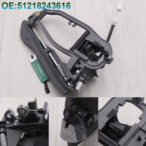 For BMW X5 E53 Front Right Drivers Side Door Handle Inner Carrier 51218243616