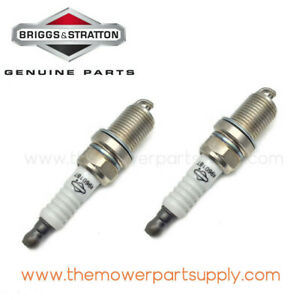 12 Pack Genuine Briggs /& Stratton 496018 Spark Plug Fits Champion RC14YC OEM