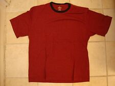 RedHead Red Head Casual Maroon with Navy Collar T Shirt XL