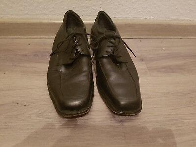 Sehr schöne BORELLI Business Leder Schuhe; Größe 43;