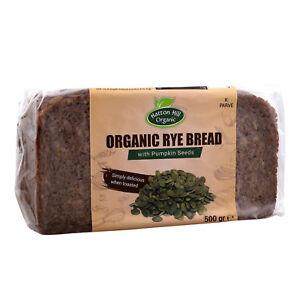 Organic Rye Pumpkin Seeds Bread 500g (Pack of 6)