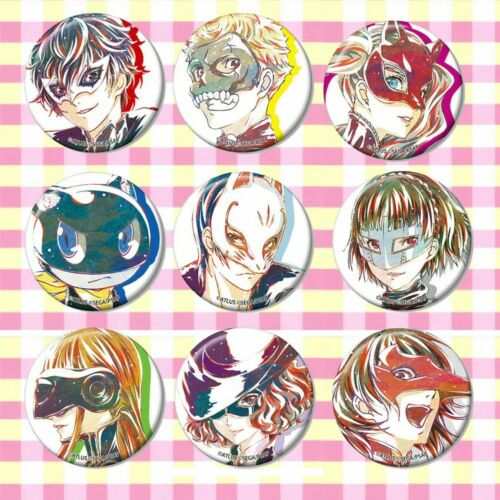 9pcs Anime Persona 5 Badges Itabag Button Pin Cosplay Brooch Gift#54645