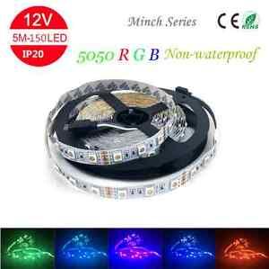 Minch-DC12V-5M-5050-RGB-Flexible-Strip-Light-150Leds-Non-waterproof-IP20-CE-ROSH