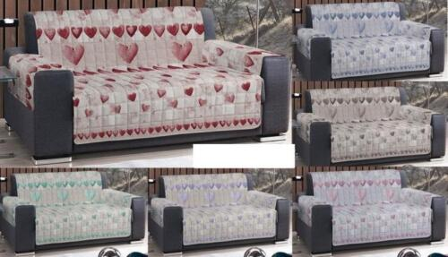 Sofa cover salvadivano Throws Quilted Shabby 4 Various Colors and measures